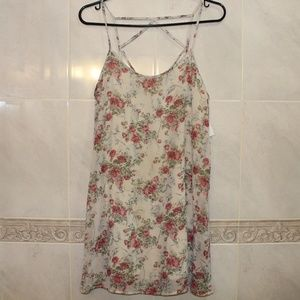 Tobi Rose Floral Print Crisscross Dress | Medium